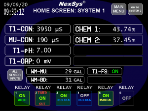 NexSys Home Screen