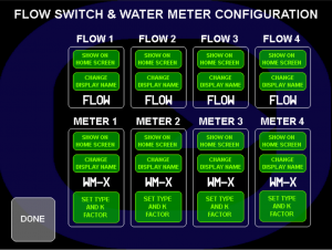 water treatment controllers setup screen